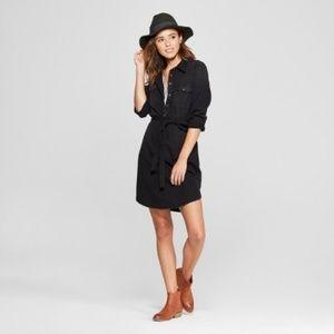 NWOT Denim Shirt Dress Universal Thread Black M
